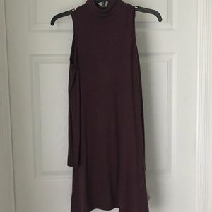 American Eagle Plush Dress with Shoulder Cut-Outs